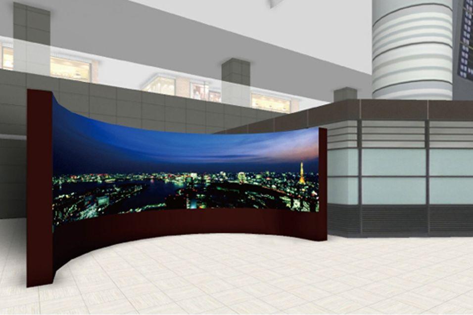 180-graders OLED-skjerm