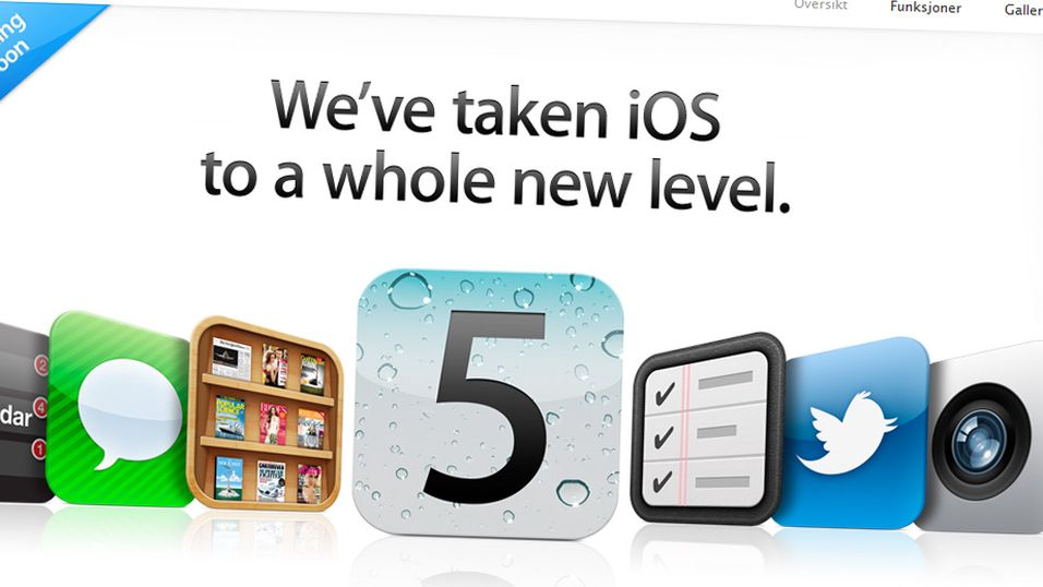 Fler enn 200 nye funksjoner skal være på plass i iOS 5 (Faksimile: Apple.com)