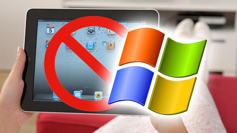 Forbrukere vil heller ha Windows-baserte nettbrett enn iPad om vi skal tro en ny undersøkelse.