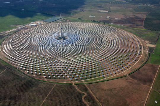 Gemasolar i full utstrekning. Foto: Torresol Energy