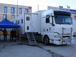 OB-Teams første produksjonsbuss som er klargjort for 3D.