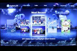 Er du gira på 3D er det en egen app som der du kan se trailere fra nye 3D-filmer.