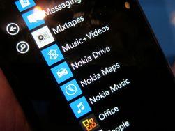 Menyene ser ut som på andre Windows-mobiler.