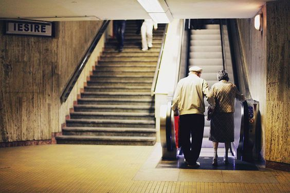 Winner - 'Signs, stairs, subway, seconds, strangers, spontaneous. Lovers walking up the stairs - growing old, growing young'. Foto: Meyrem Bulucek ( BULLS )