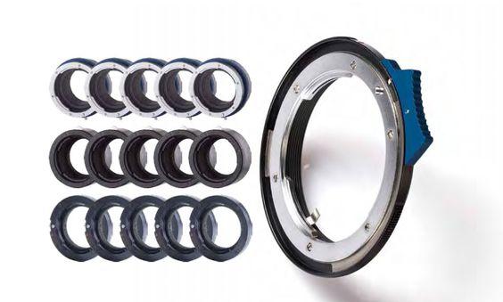 Novoflex leverer blant annet adapterringer, slik at man kan bruke optikk på forskjellige fatninger.
