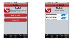 Du kan sende SMS fra SkyCall, men siden SMS er en tjeneste som krever mobilnett vil du foreløpig ikke kunne sende den fra et fly.
