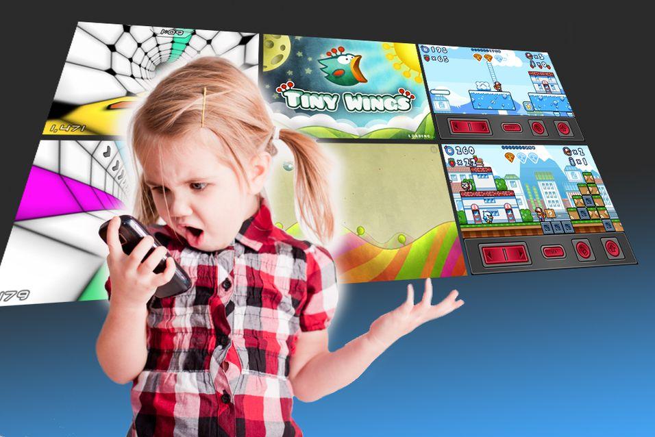 Topp 3 barnespill på mobilen