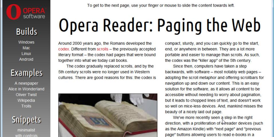 Opera gjør det lettere å lese nettsider