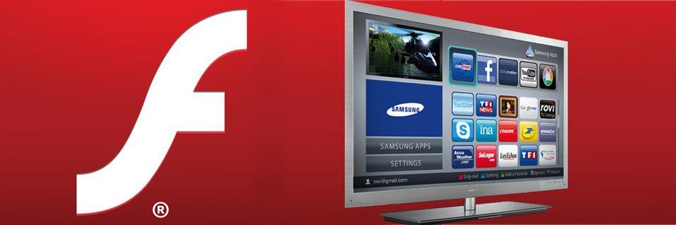 Adobe dropper Flash også til TV