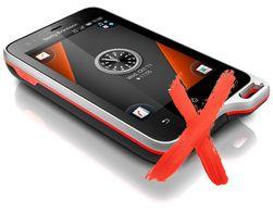 Også Sony Ericssons Xperia Active falt fra i støttesten.
