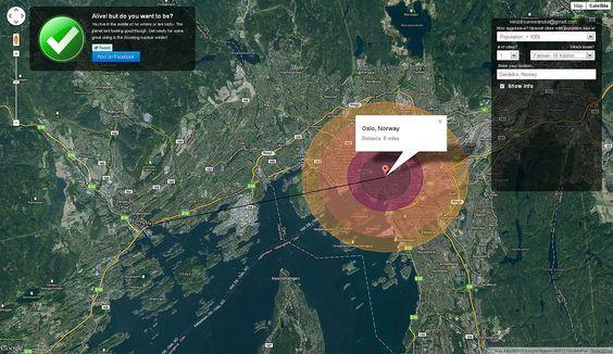 BOMBEN OVER NAGASAKI: Dersom «Fat Man» hadde detonert over Oslo sentrum ville dødssonen ha strukket seg omtrent fra Tøyen i øst til Skillebekk i vest, Gamle Aker i Nord og Gamlebyen i sør.