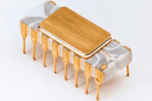 4004, den første prosessoren fra Intel.