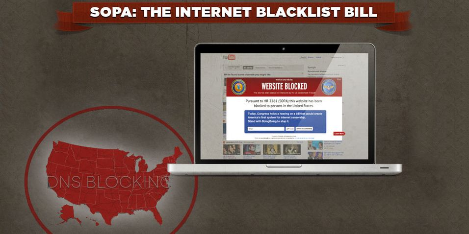 Tar ned Reddit i SOPA-protest