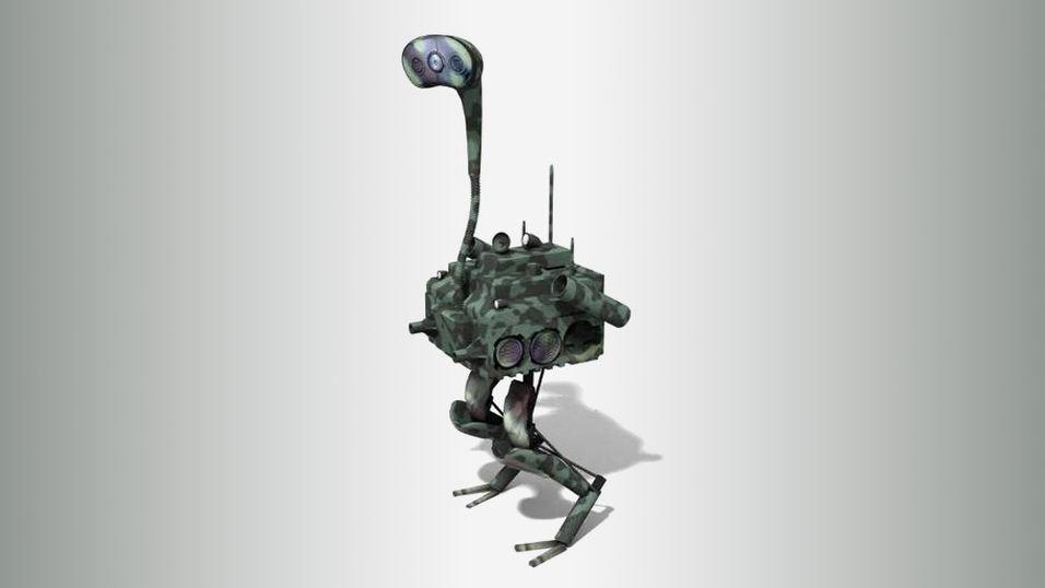 Denne strutseroboten klarer du ikke å løpe fra