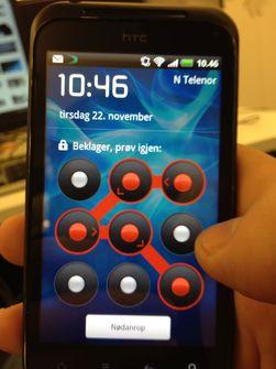Med et låsemønster kan du forhindre at uvedkommende får tilgang til alt du har lagret på mobilen din.