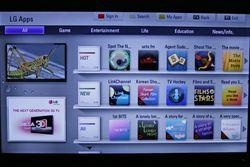 En del småprogrammer finnes på LGs marked. Men fortsatt litt lite norske apps å velge i.