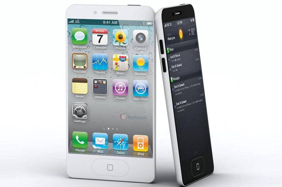 """Det finnes utrolig mange konseptbilder av kommende iPhone-modeller. Her er et konseptbilde med større skjerm og """"dråpeform""""."""