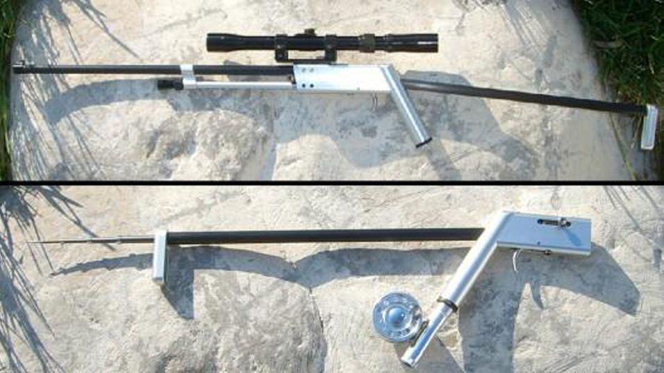 Dette geværet er også en fiskestang