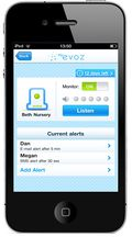 På smarttelefonen din kan du overvåke barnerommet overalt hvor det finnes mobildekning eller Wi-Fi.