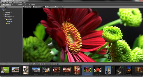 Det nye grensesnittet til DXOs Optics Pro 7.