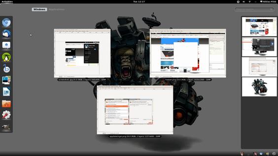 Det er veldig lett å få oversikt over favorittprogrammer, åpne programmer og skrivebord med én enkel tast.