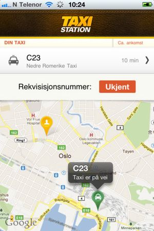 TaxiStation for iPhone.
