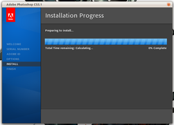 Installeringen begynner...