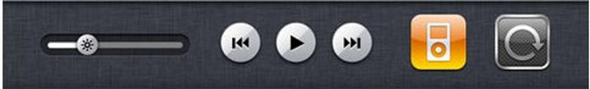 Selv om de ser ut som ekte knapper, føles det ikke som det når du trykker på dem.