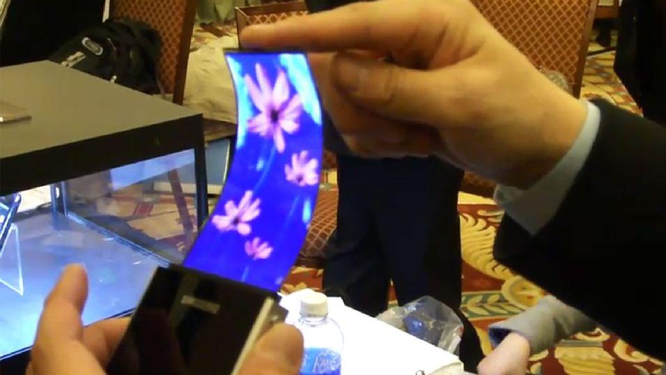 Samsung viser bøyelige skjermer i januar