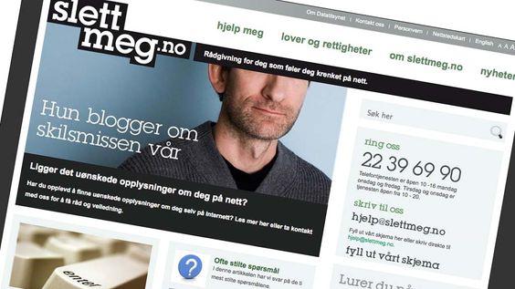 Slettmeg.no gir råd og veiledning til mennesker som opplever å bli krenket og som ønsker å få fjernet informasjon om seg selv på nettet.