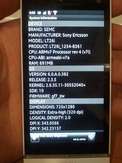 Et bilde av Nozomi med systeminformasjon på skjermen.