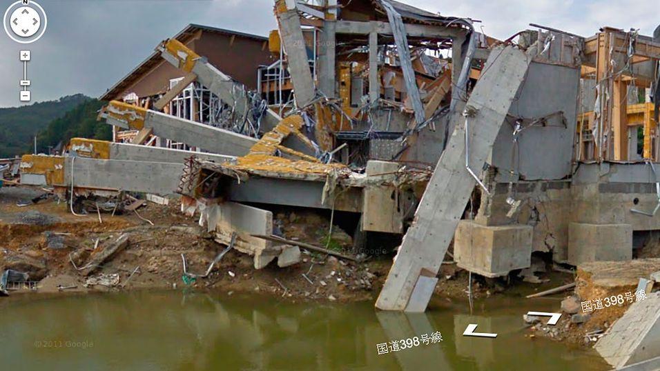 Street View lar deg utforske tsunami-områdene