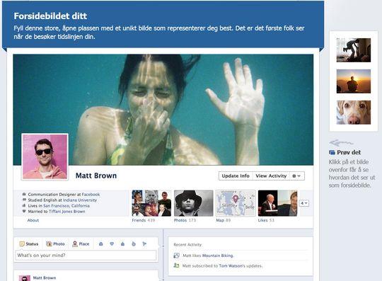 Ønsker du å endre Facebook-profilen din i dag, får du mange tips på nettsiden Facebook.com/about/timeline.