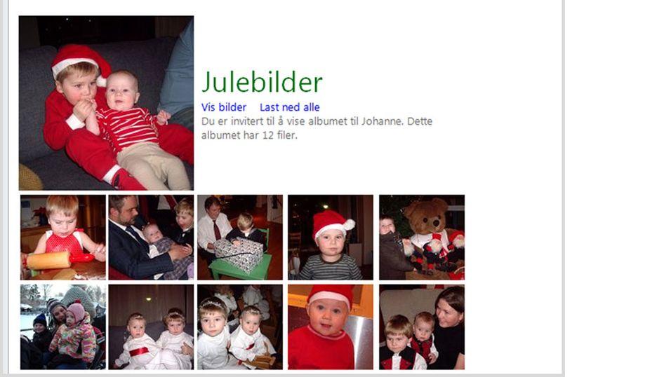 Deler du julebildene dine på Facebook?