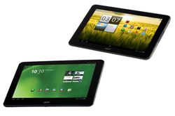 Acer Iconia Tab A200 (øverst) og A700.