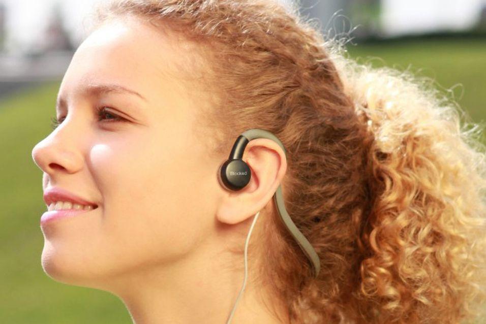 Øreplugger avgir lyd gjennom kinnene