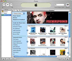 iTunes Store ble lansert i 2003, og er i dag den største forhandleren av musikk i blant annet USA.