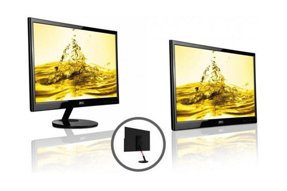 Slipper USB-drevet Full HD-skjerm på 22 tommer