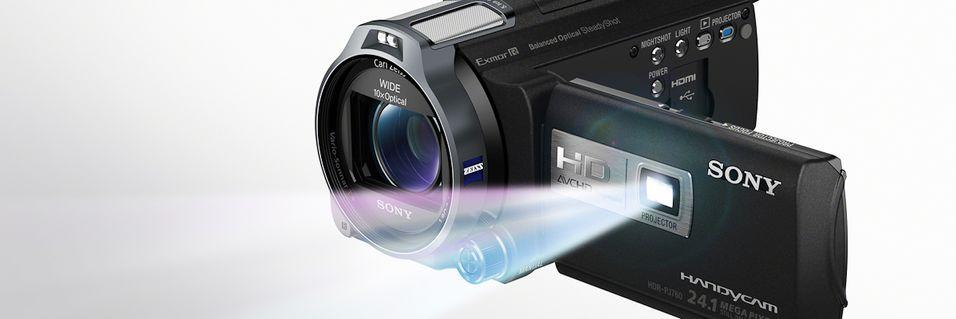Videokameraer med prosjektor fra Sony