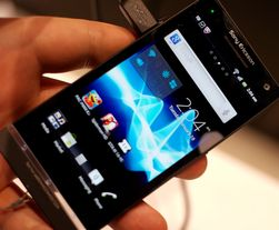 Slik ser nye Sony Xperia S ut. Foreløpig har demomodellene Sony Ericsson-navnet på seg.