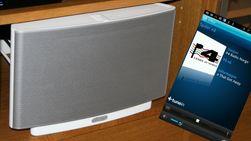 Sonos kan utvides med mange høyttalere og kontrollers enkelt fra mobilen.