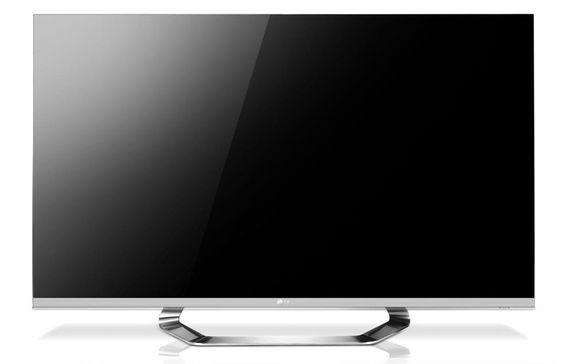 Rammen på LGs nye TV er så tynn at skjermen nesten kan kalles rammeløs.