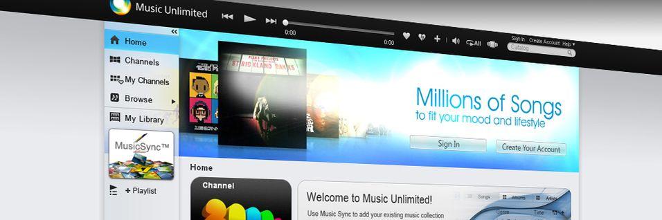 Sony går til angrep på Spotify og WiMP