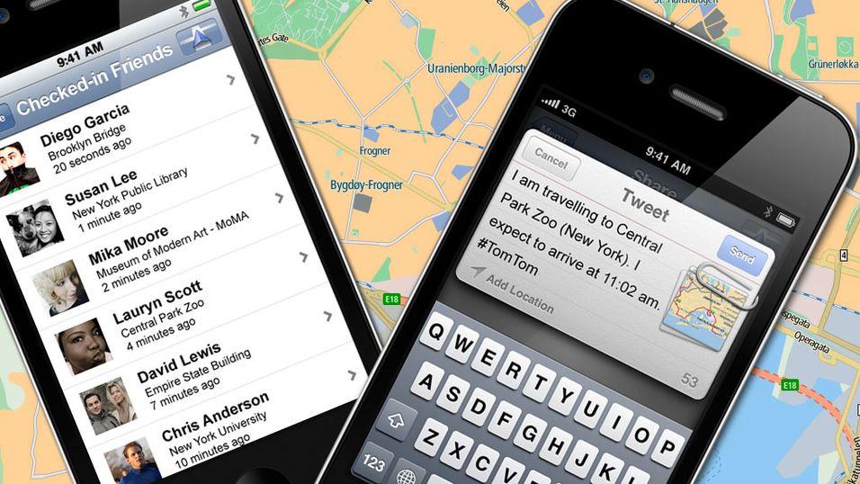 TomTom på iPhone får Facebook og Twitter