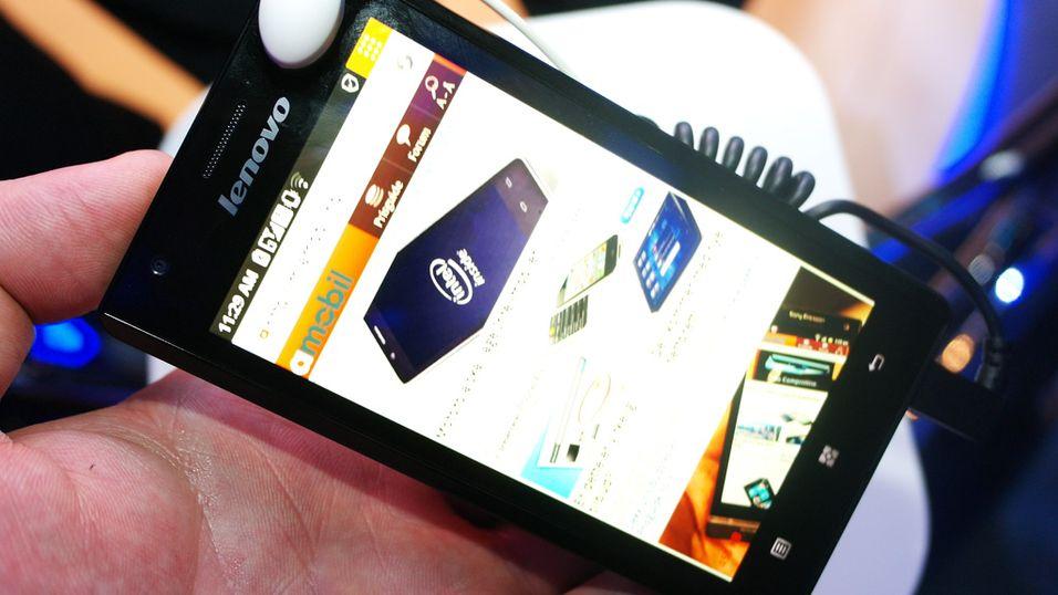 SNIKTITT: Slik er verdens første Intel-mobil