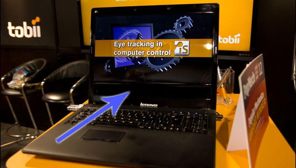 En bærbar Lenovo-PC med sensor innebygget