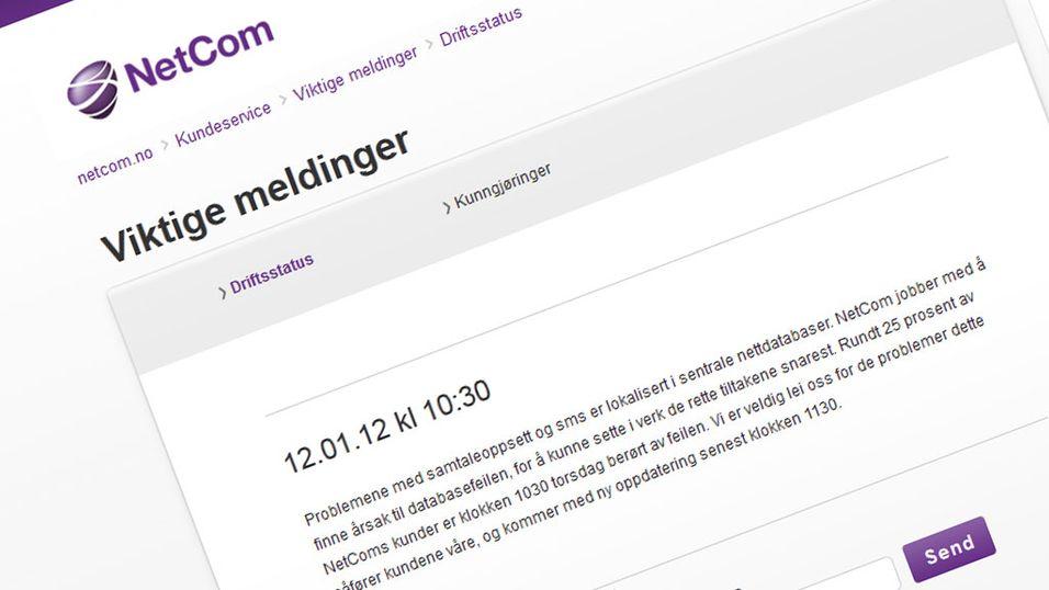 Trøbbel i NetCom-nettet