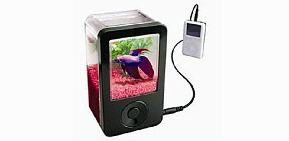 Å plassere en fisk i en høyttaler er tortur, mener NOAH. (Foto: Dreamcoat.com)