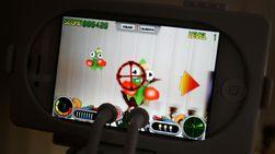 Slik ser spillet ut på skjermen til en iPhone 4.