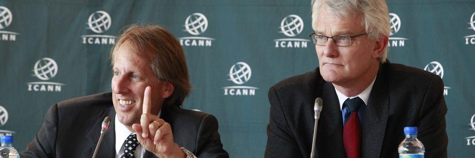 Rod Beckstrom og Peter Dengate Thrush fra ICANN. Foto: ICANN